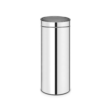 Touch Bin NEW, plastinnerbøtte 30 L Blankbørstet Stål