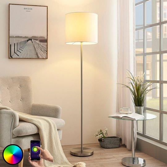 Lindy Smart LED-gulvlampe Everly, app, RGB