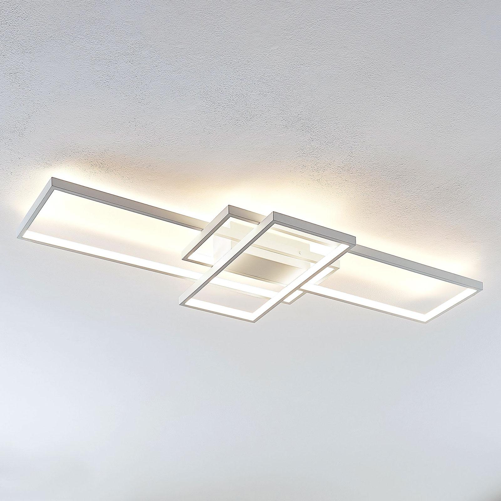 Lindby Poppy LED-kattovalaisin himmentimellä