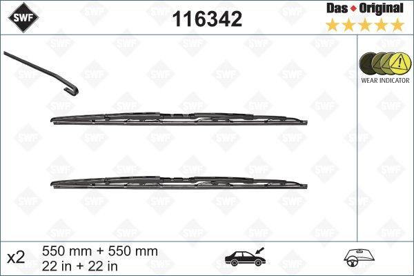 Torkarbladsats 550/550