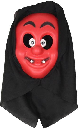 Kostyme Maske med Hette Djevel Barn, Rød