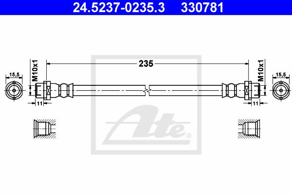 Jarruletku ATE 24.5237-0235.3