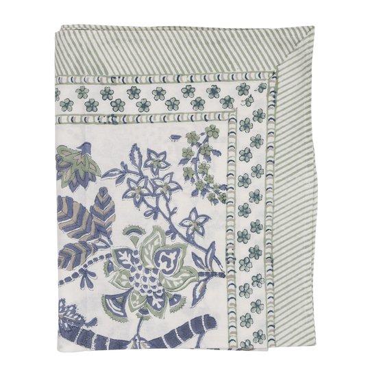 Chamois - Floral Bordsduk 170x270 cm Sea Blue