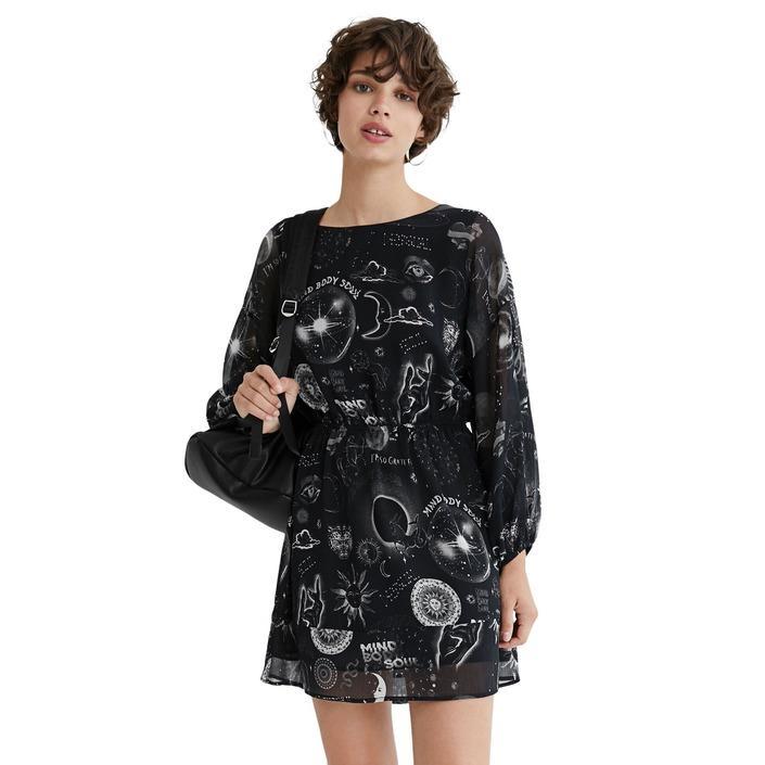 Desigual Women's Dress Black 319858 - black S