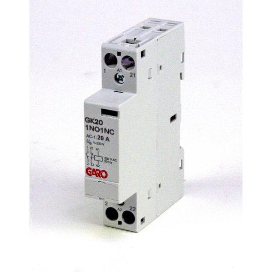 Garo GK20 1NO1NC 230V AC Kontaktori 2-napainen, 20 A 1 avautuva