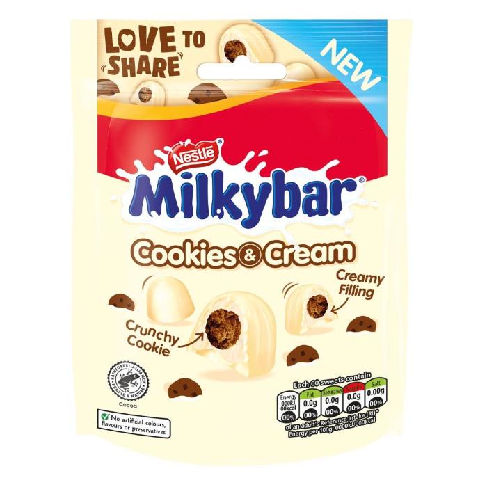 Nestle Milkybar Cookie & Cream Bites 90g