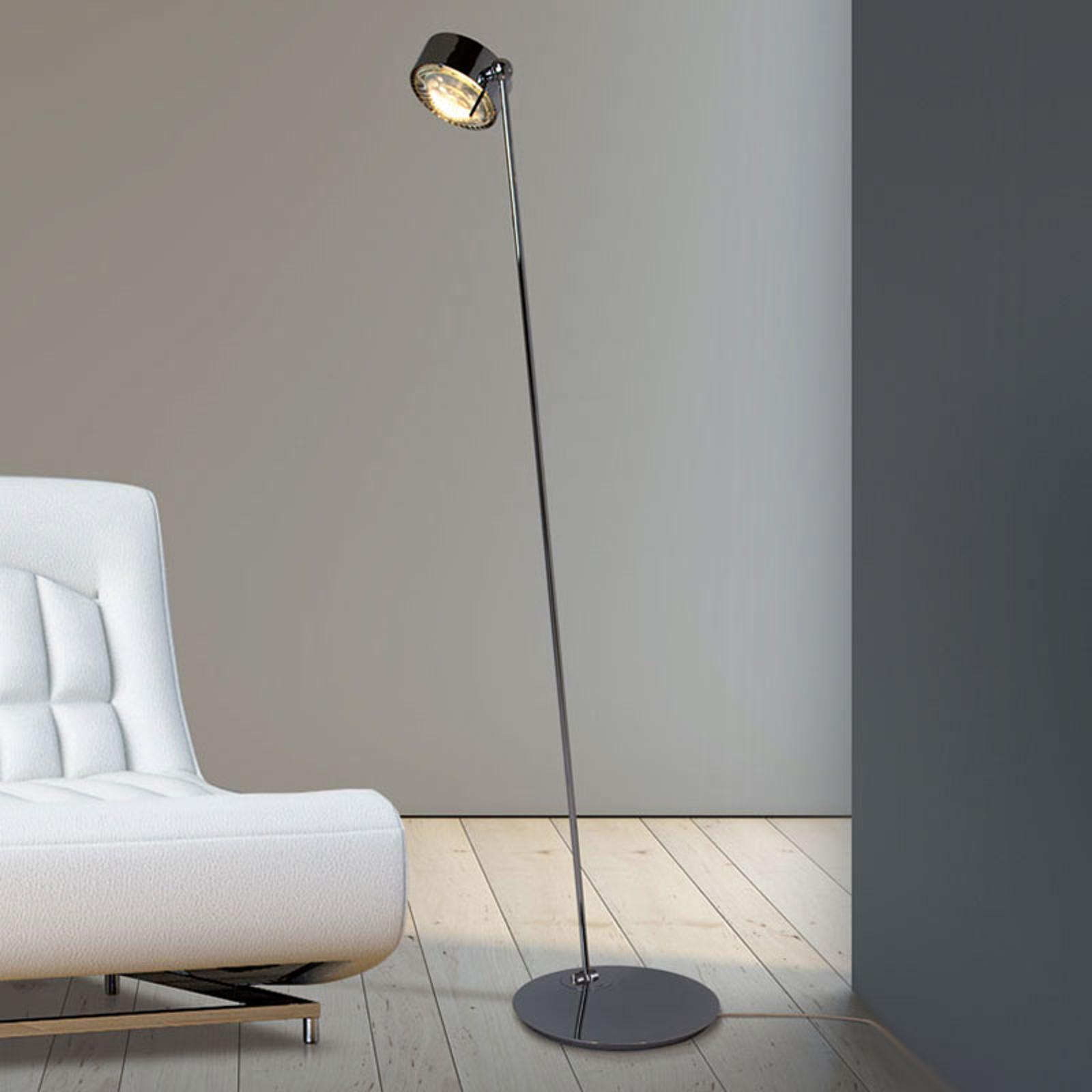 LED-lattiavalaisin Puk Maxx Floor Mini, kromi