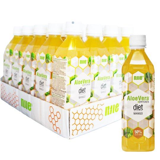 Hel Platta Aloe Vera-dryck Mango 20 x 50cl - 63% rabatt