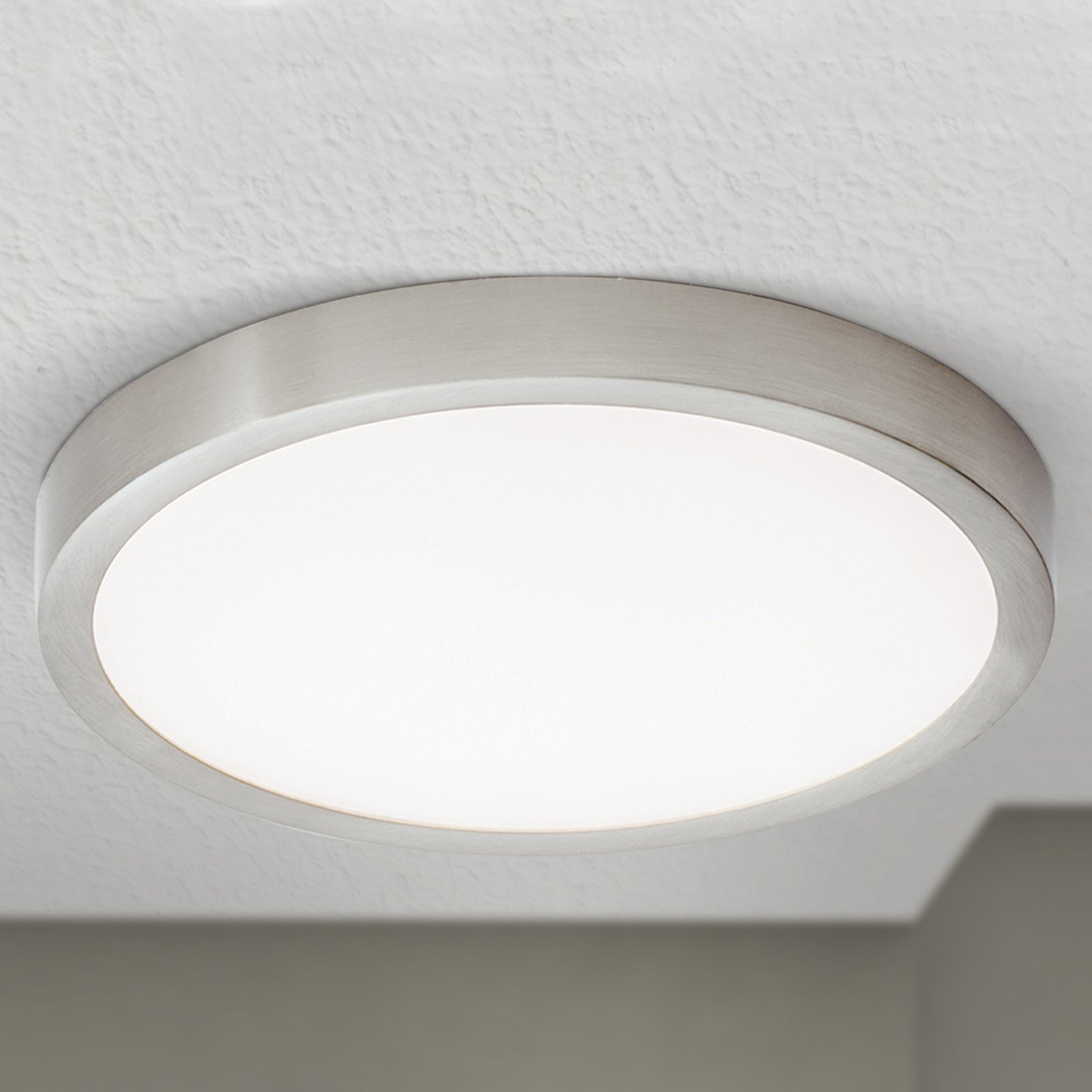 LED-taklampe Vika, rund, titan matt, Ø 23cm