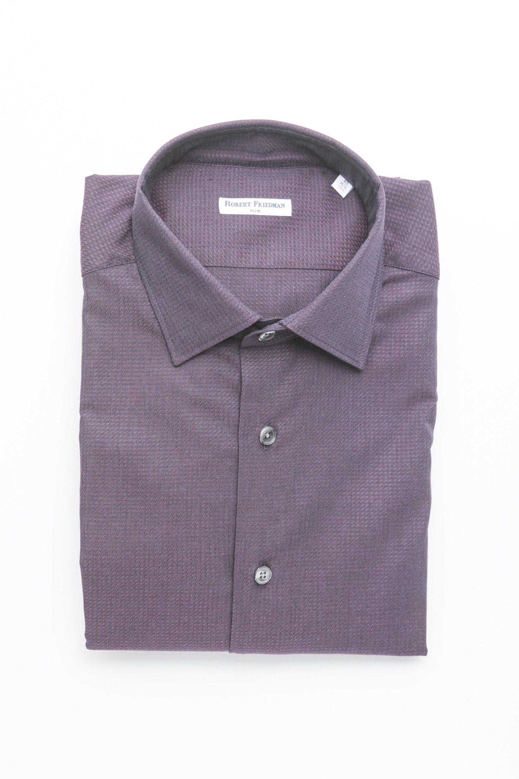 Robert Friedman Men's Shirt Burgundy RO1394999 - IT46 | S