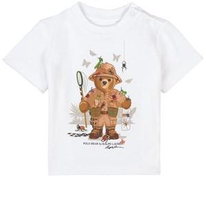 Ralph Lauren Butterfly Bear Print Tee T-shirt Vit 3 mån