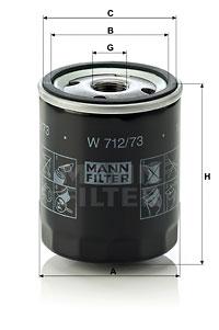 Öljynsuodatin MANN-FILTER W 712/73