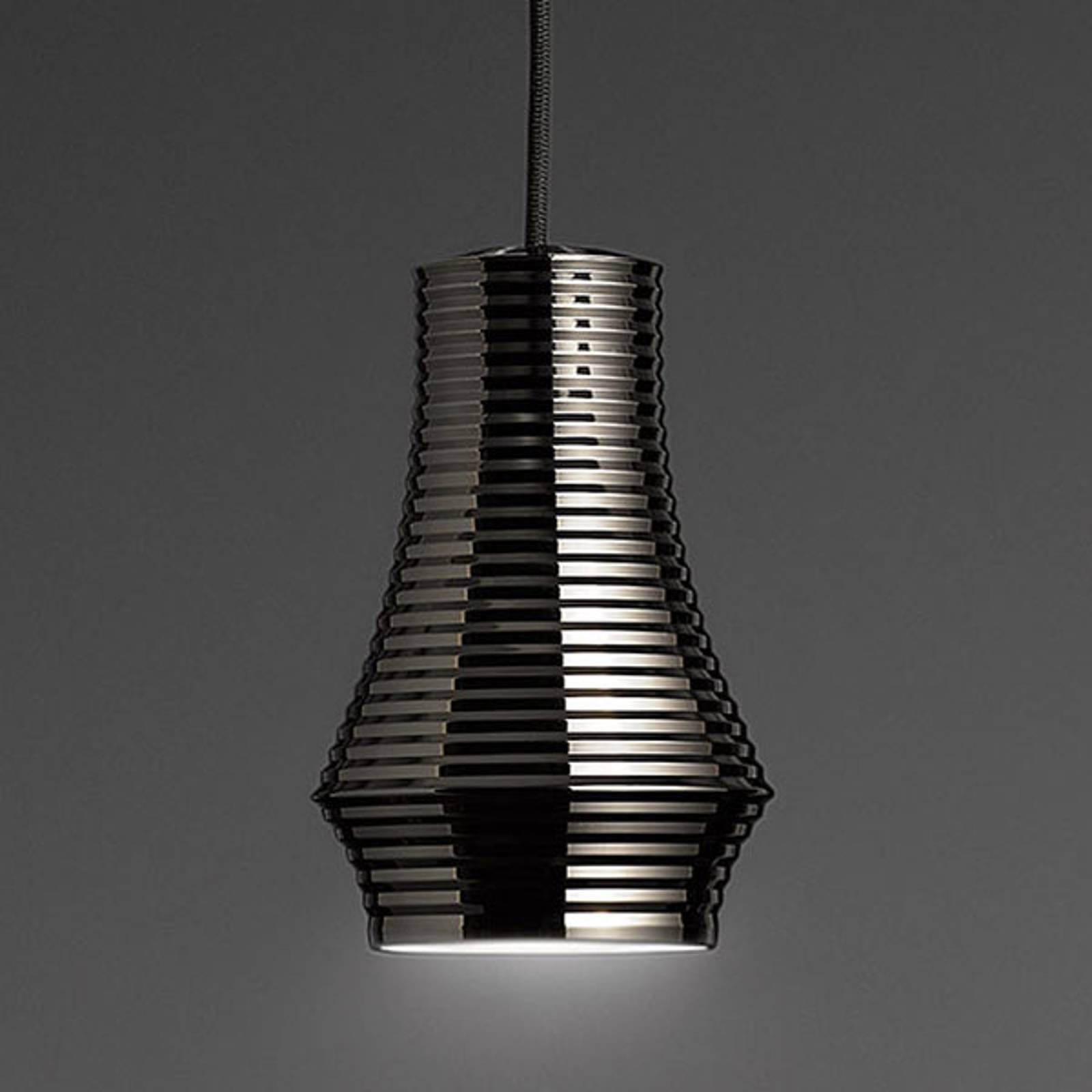 Bover Tibeta 01 - LED-hengelampe, krom-svart