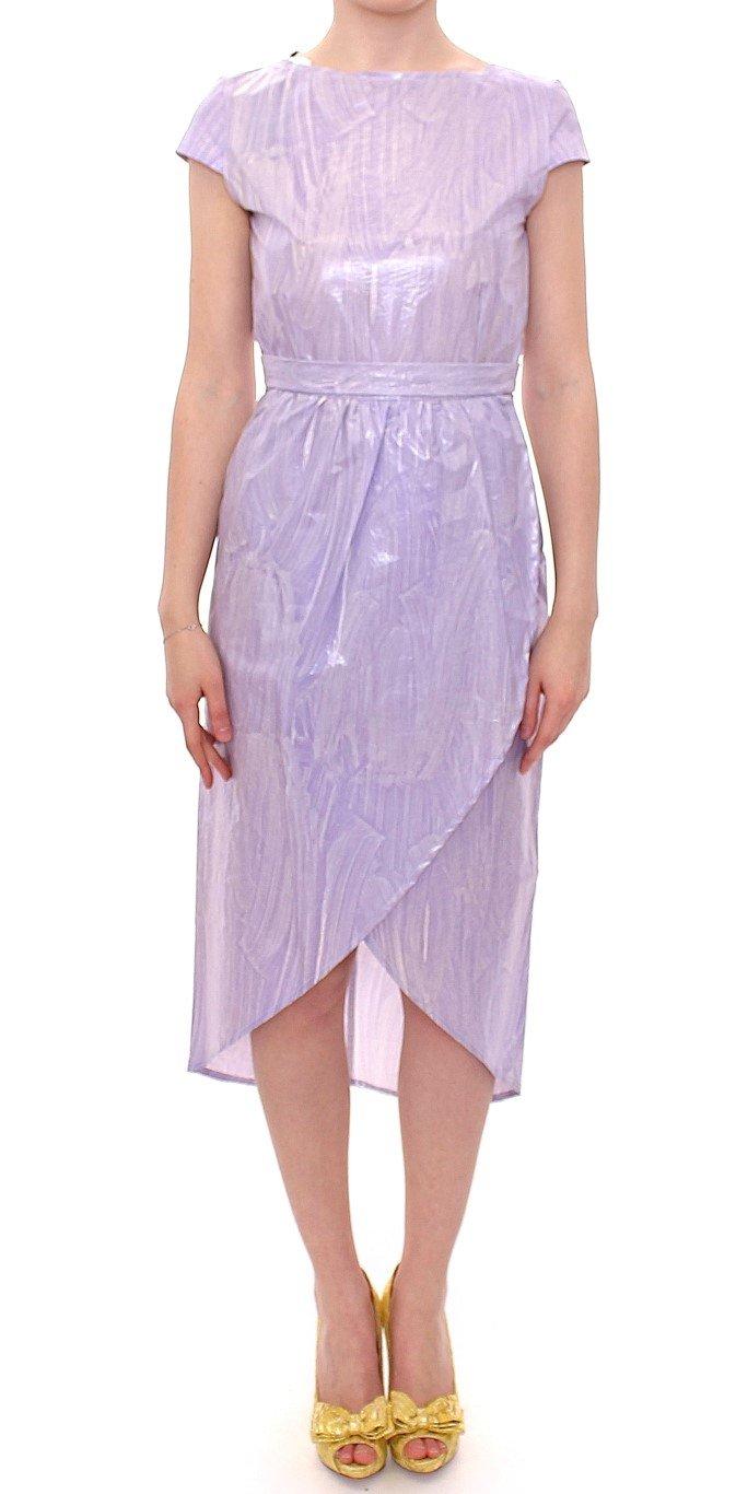 Licia Florio Women's Cap Sleeve Below Dress Purple MOM10099 - IT44|L