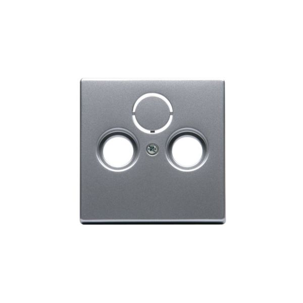 ABB Impressivo Midtplate TV/R/SAT Aluminium