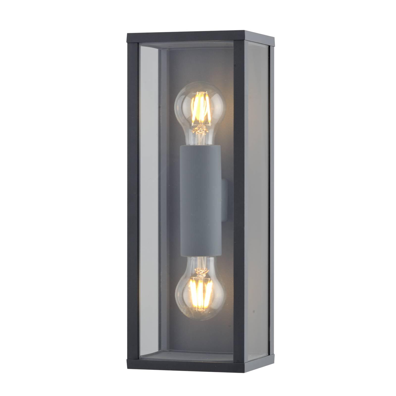 Lindby Peldar -ulkoseinälamppu, 2-lamppuinen