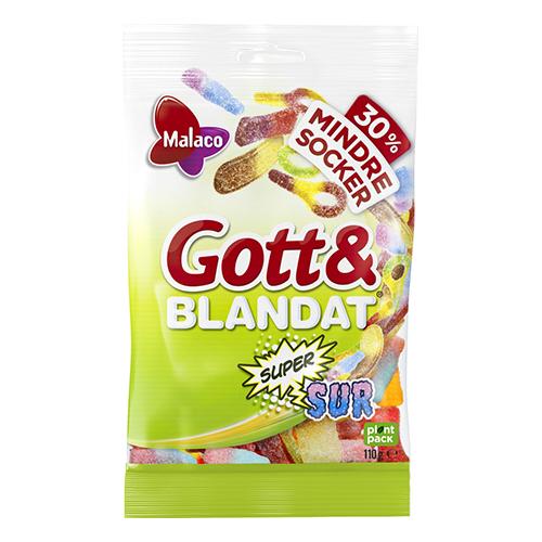 Malaco Gott & Blandat Supersur med Mindre Socker