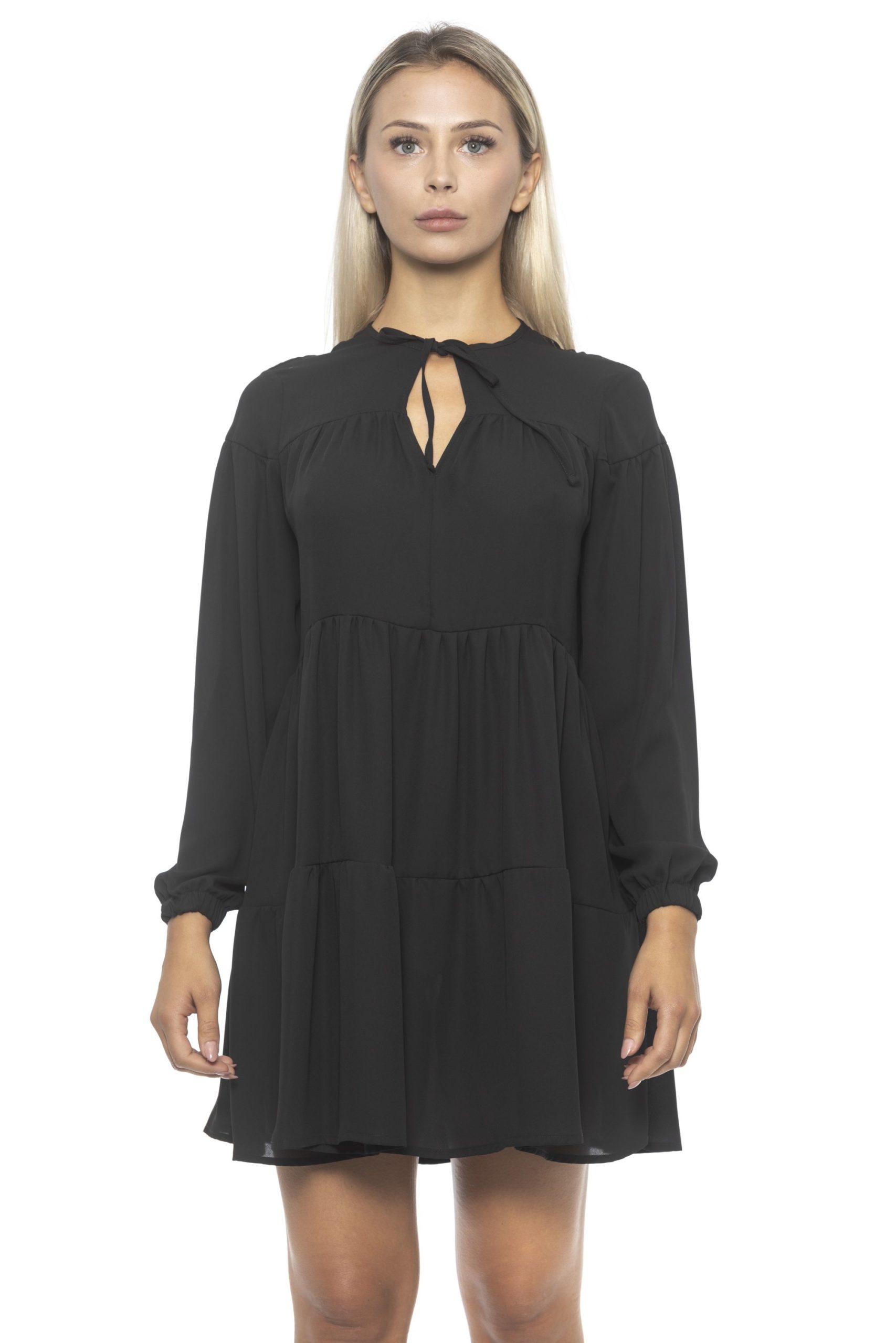 Alpha Studio Women's Nero Dress Black AL1314662 - IT42 | S