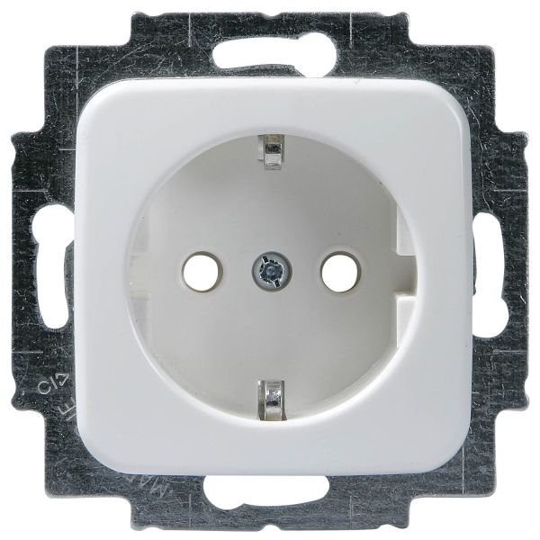 ABB 20EUC2 Vegguttak 1-veis, innfelt, pirkesikkert Klo- og skruemontering