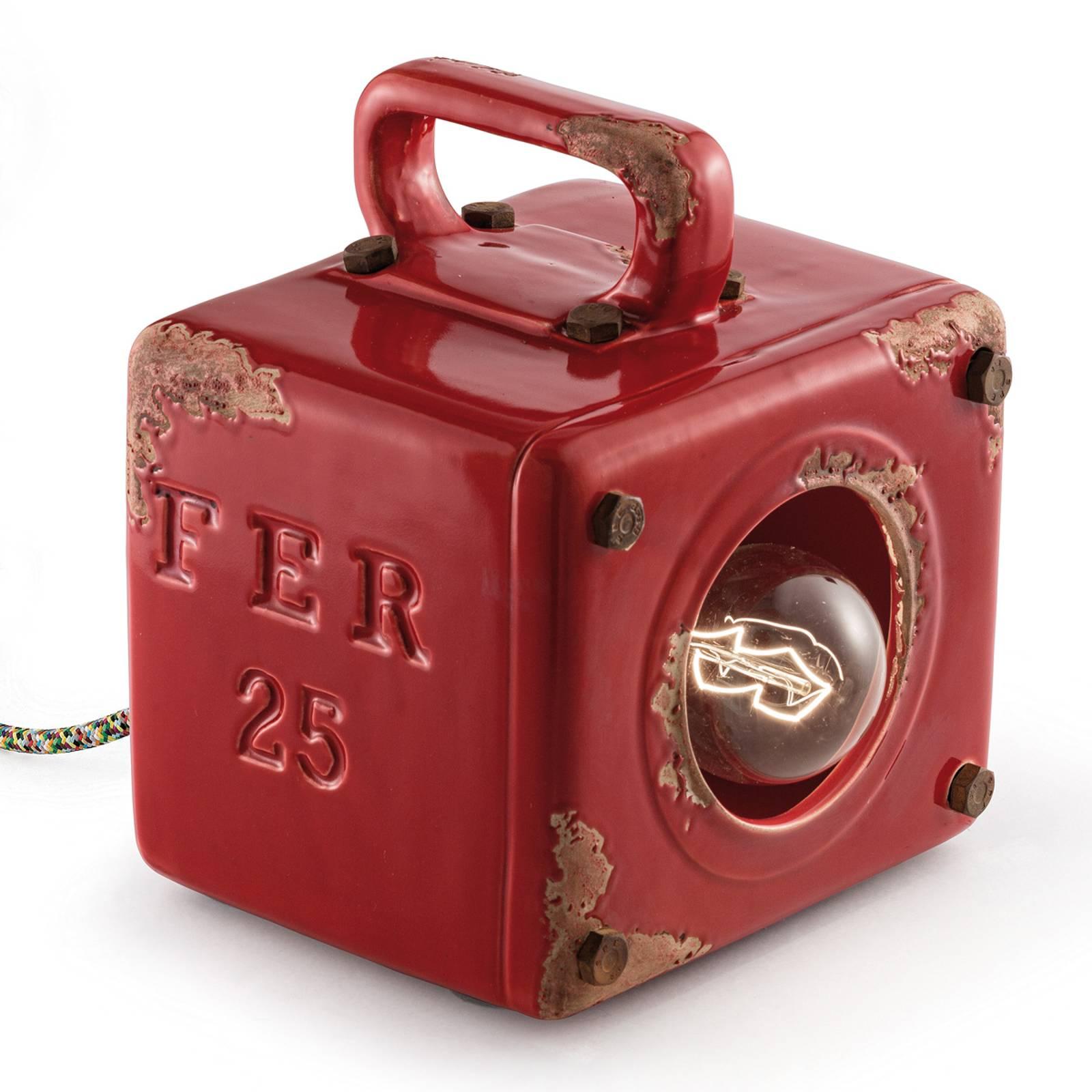 Punainen Lorenzo-vintage-pöytävalaisin