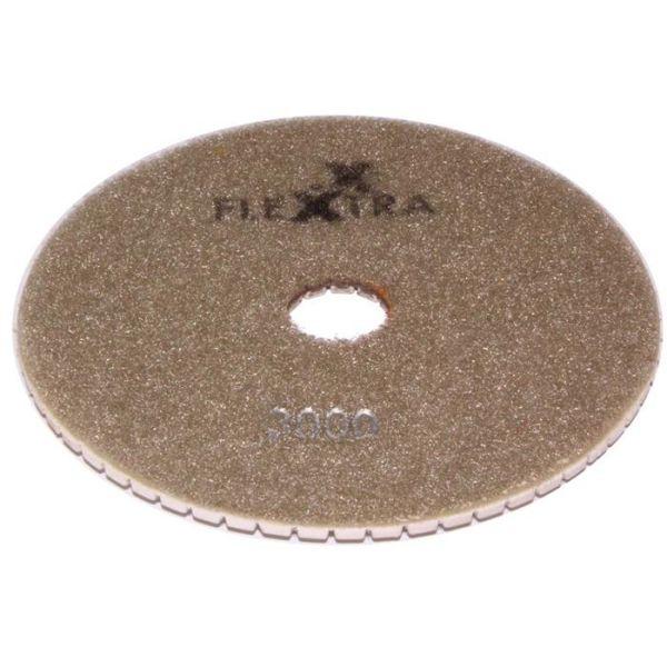 Flexxtra 100.251 Diamantslipeskive 125 x 4 mm, våt/tørr Grit 3000