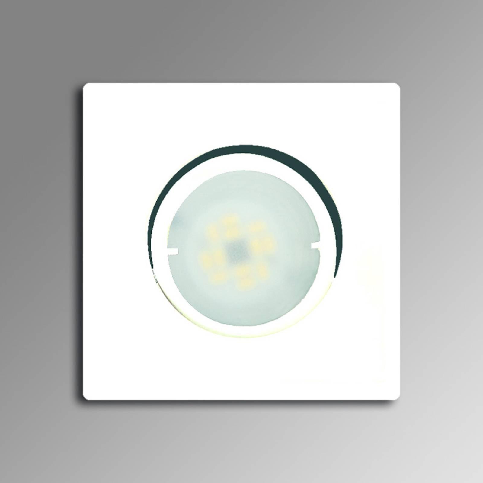 Hvit LED-innbyggingslampe Joanie, justerbar