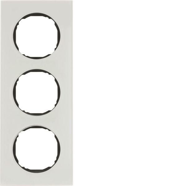 Hager 10132609 Peitekehys R.8, lasi, valkoinen 3-paikkainen