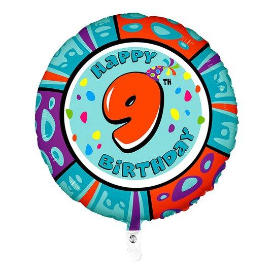 Folieballong Happy Birthday - Siffra 9