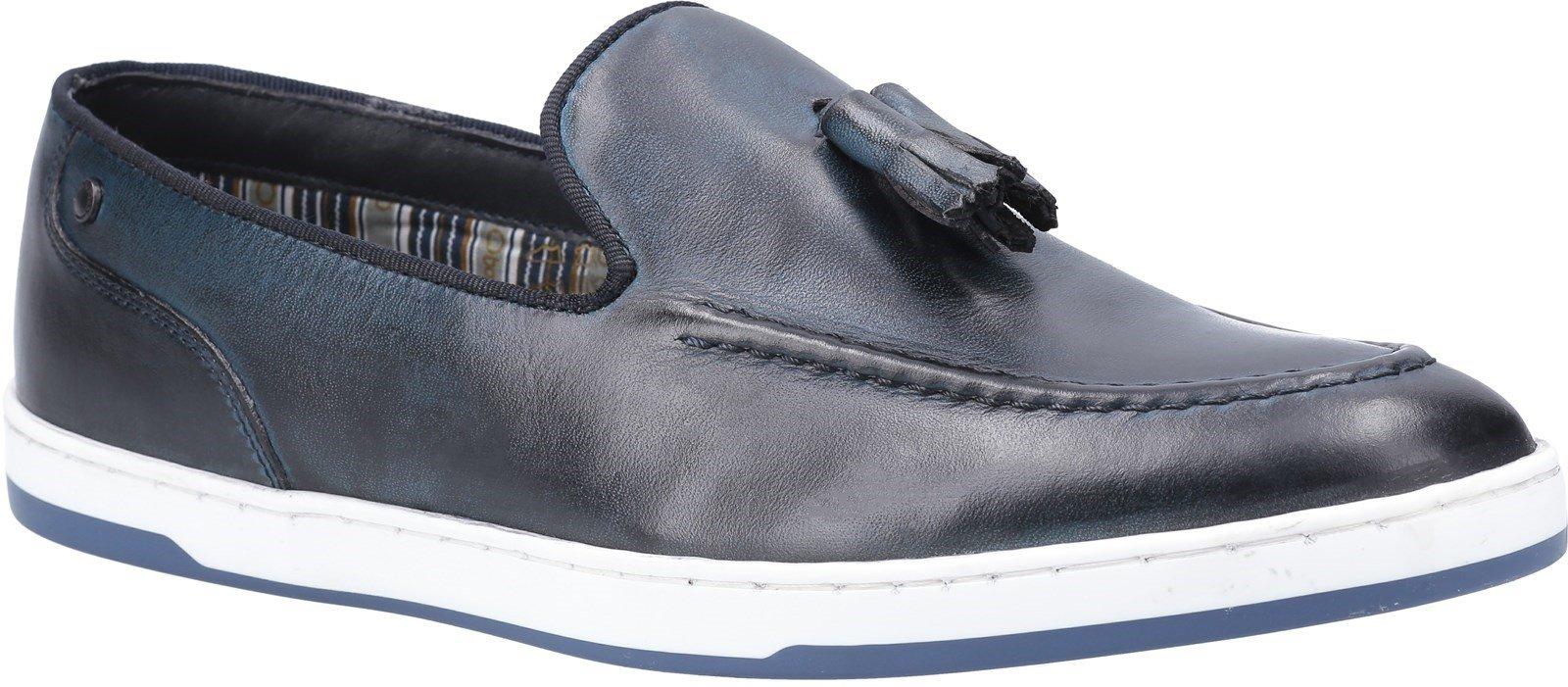 Base London Men's Pogo Burnished Slip On Loafer Various Colours 30446 - Navy 6