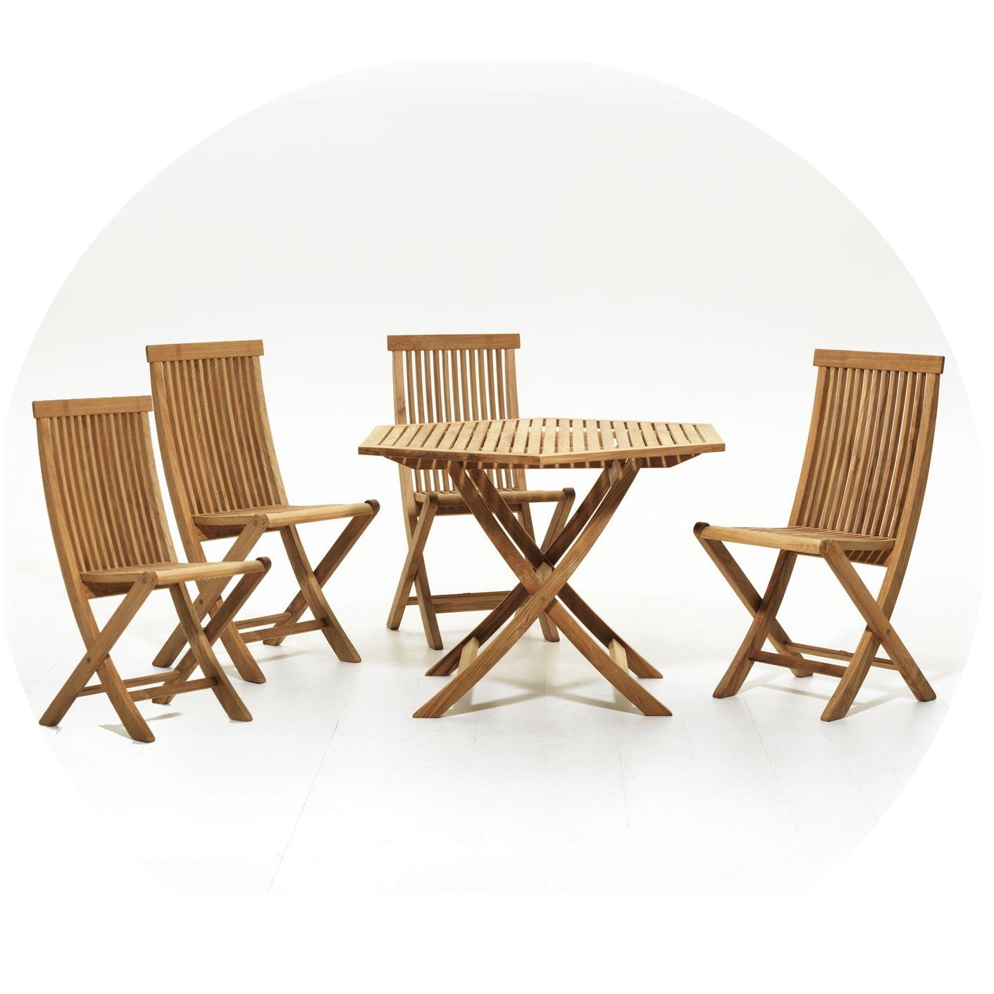 Viken Matgrupp Bord 110 cm 4 stolar, Skargaarden