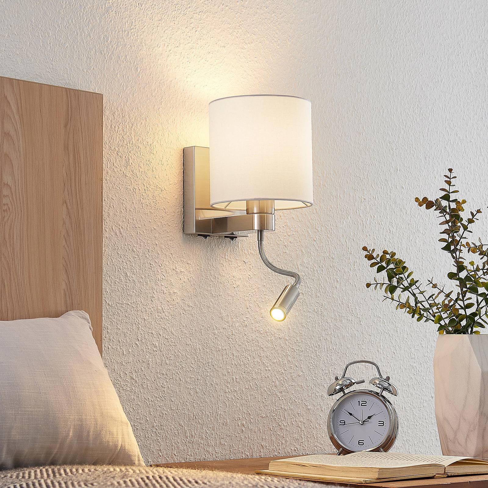Lucande-seinävalaisin Brinja LED valkoinen