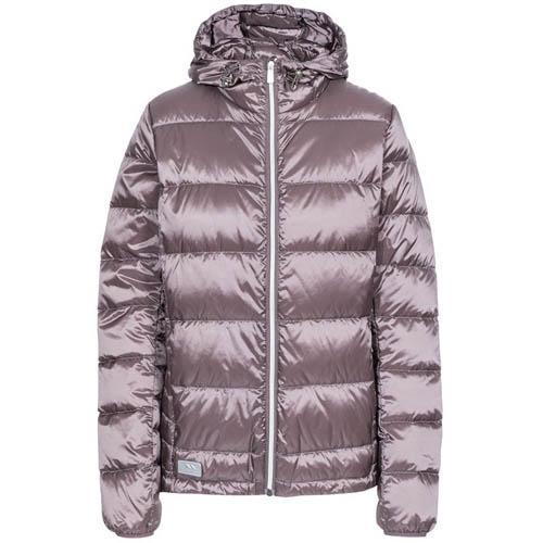 Trespass Women's Hooded Down Jacket Various Colours Bernadette - Dusty Heather XS