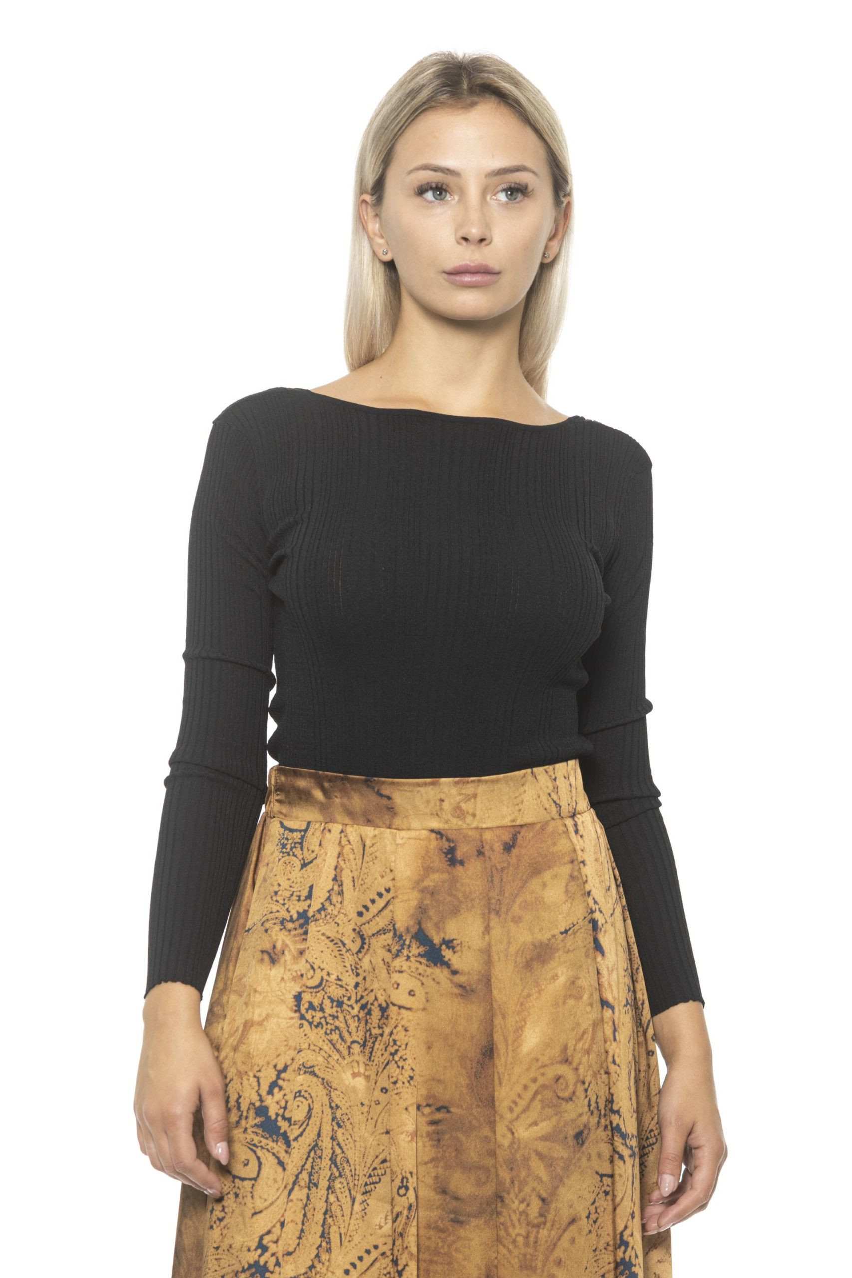 Alpha Studio Women's Nero Sweater Black AL1314700 - IT42 | S