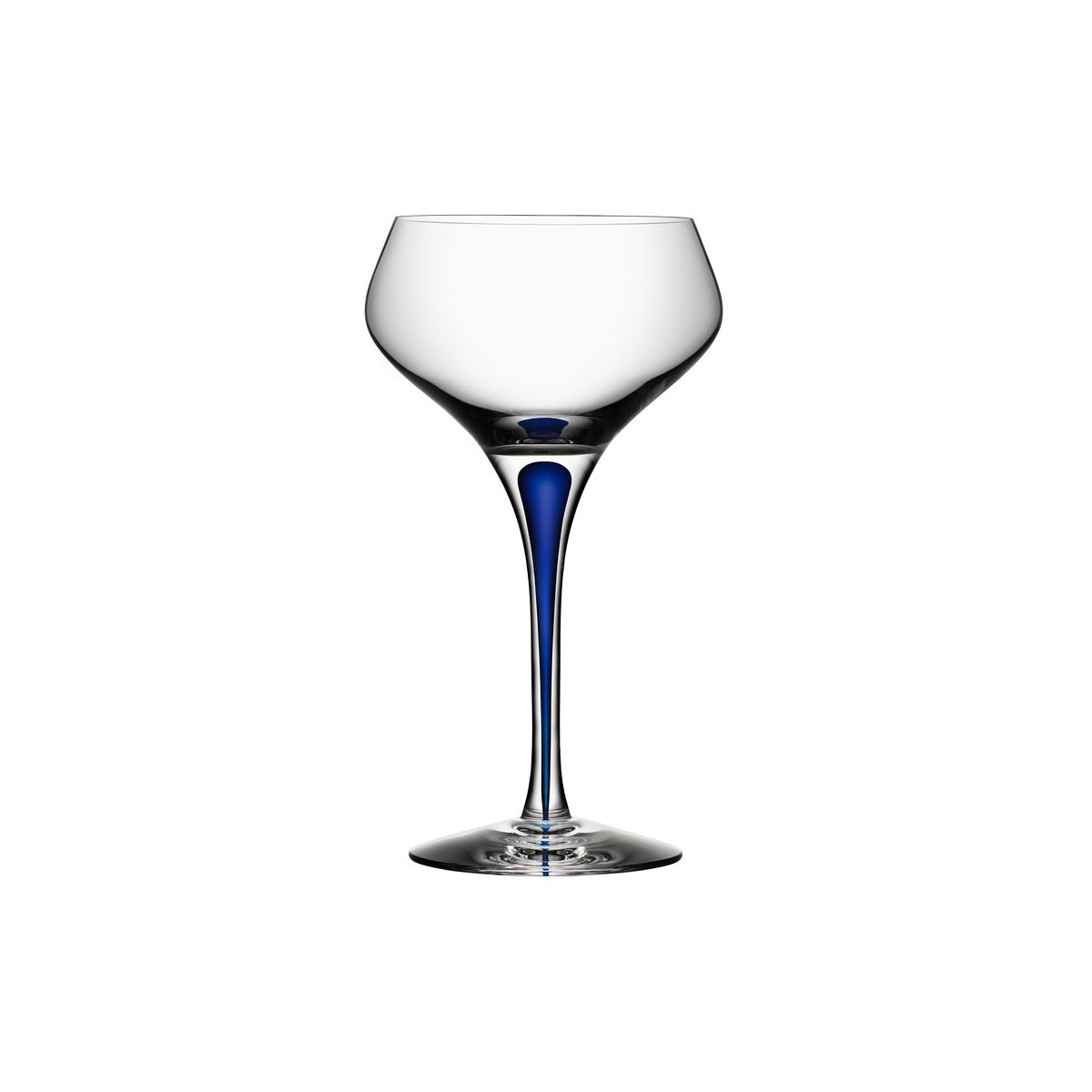 Orrefors Of Sweden I Intermezzo Blue Champagne Coupe 29 cl