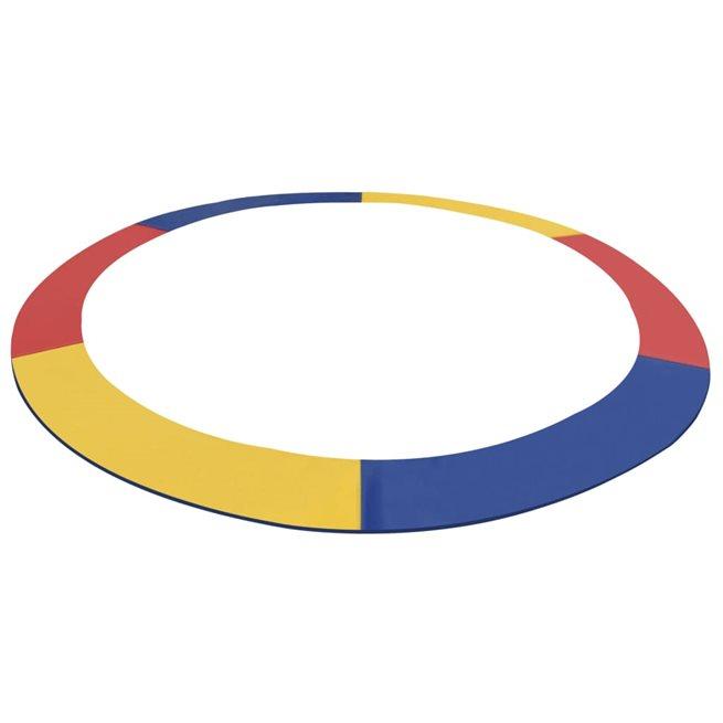 vidaXL Kantskydd PVC flerfärgat för 10 fot/3,05 m rund studsmatta