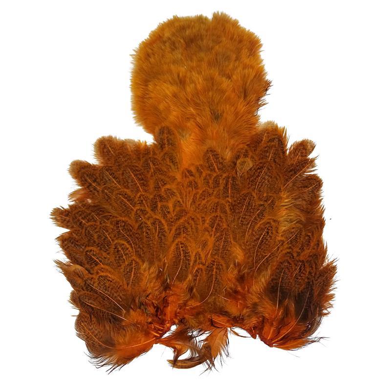 Whiting Coq De Leon Hen SH/C Burnt Orange, Speckled dyed