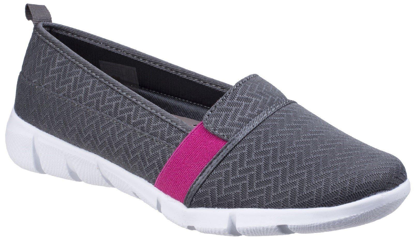 Fleet & Foster Women's Canary Espadrilles Shoe Various Colours 26310-43913 - Grey 5