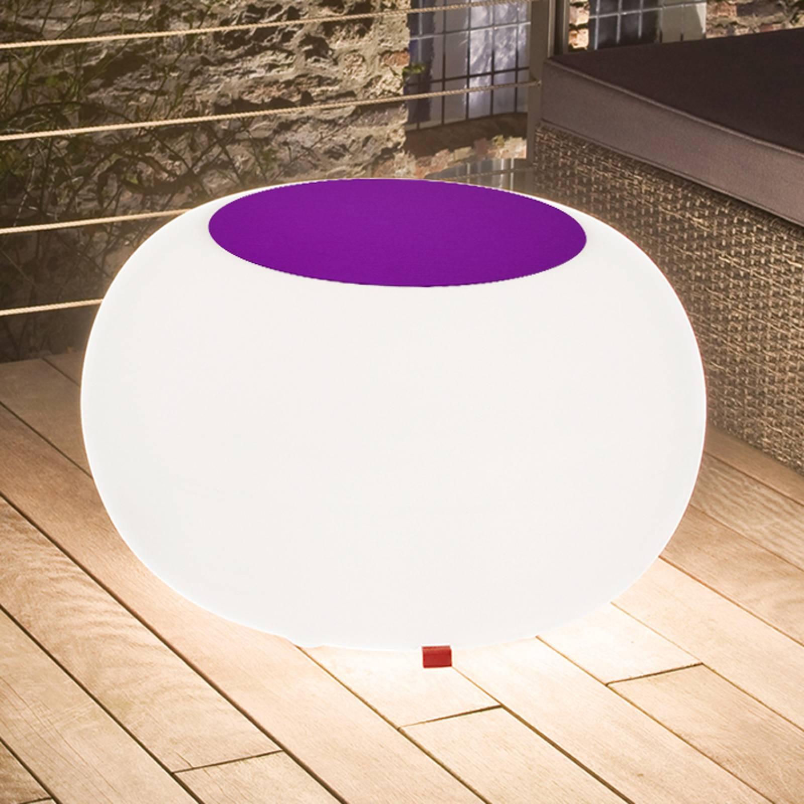 Bubble Outdoor pöytä, valkoinen + huopa violetti