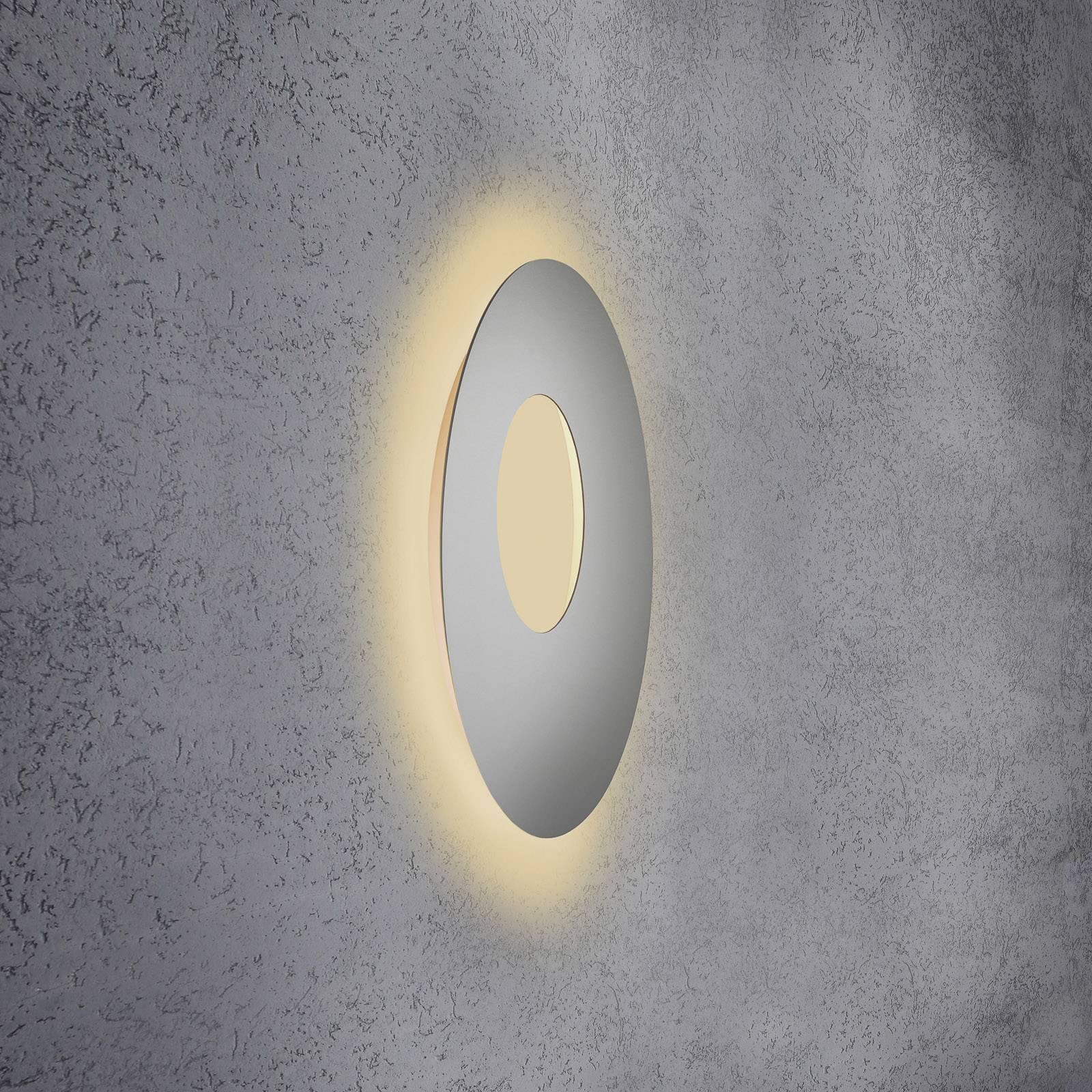 Escale Blade Open -LED-seinävalaisin hopea Ø 59 cm