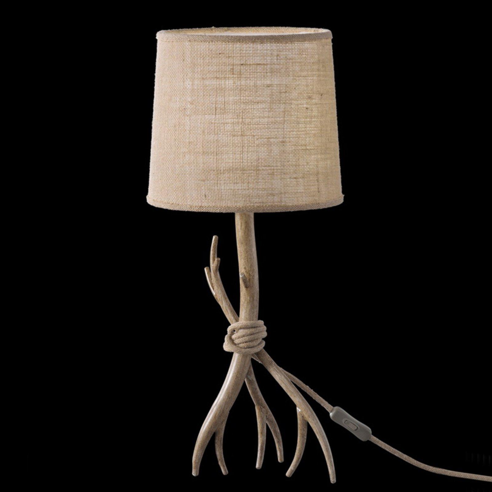 Sabina bordlampe med tekstilskjerm