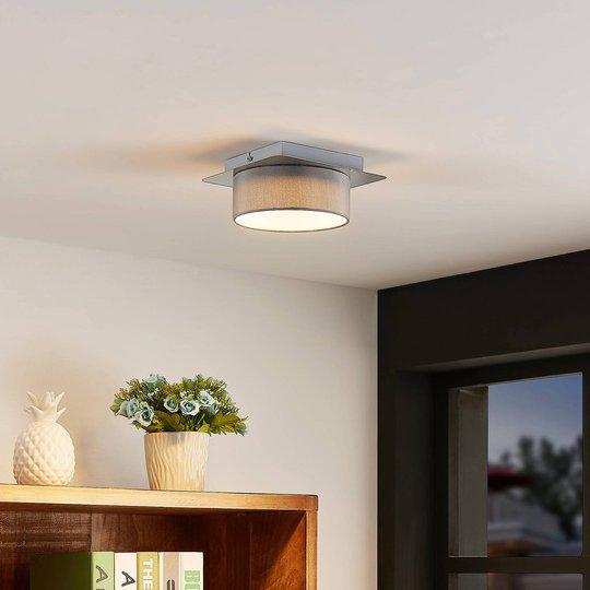 Lindby Aviola LED-taklampe med tekstilskjerm