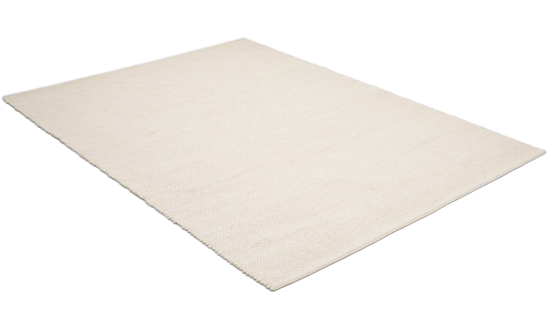 Diamond white - håndvevet ullteppe