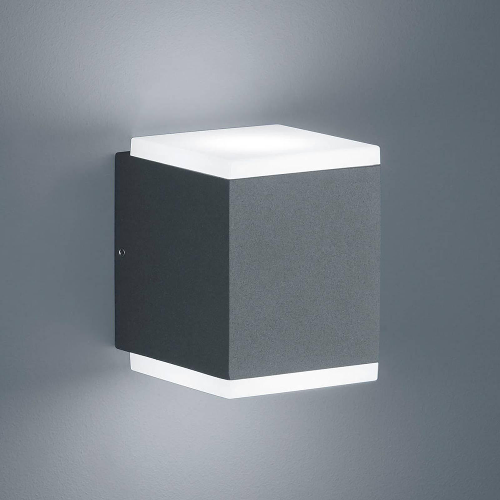 Helestra Kibo – utendørs LED-vegglampe, grafitt
