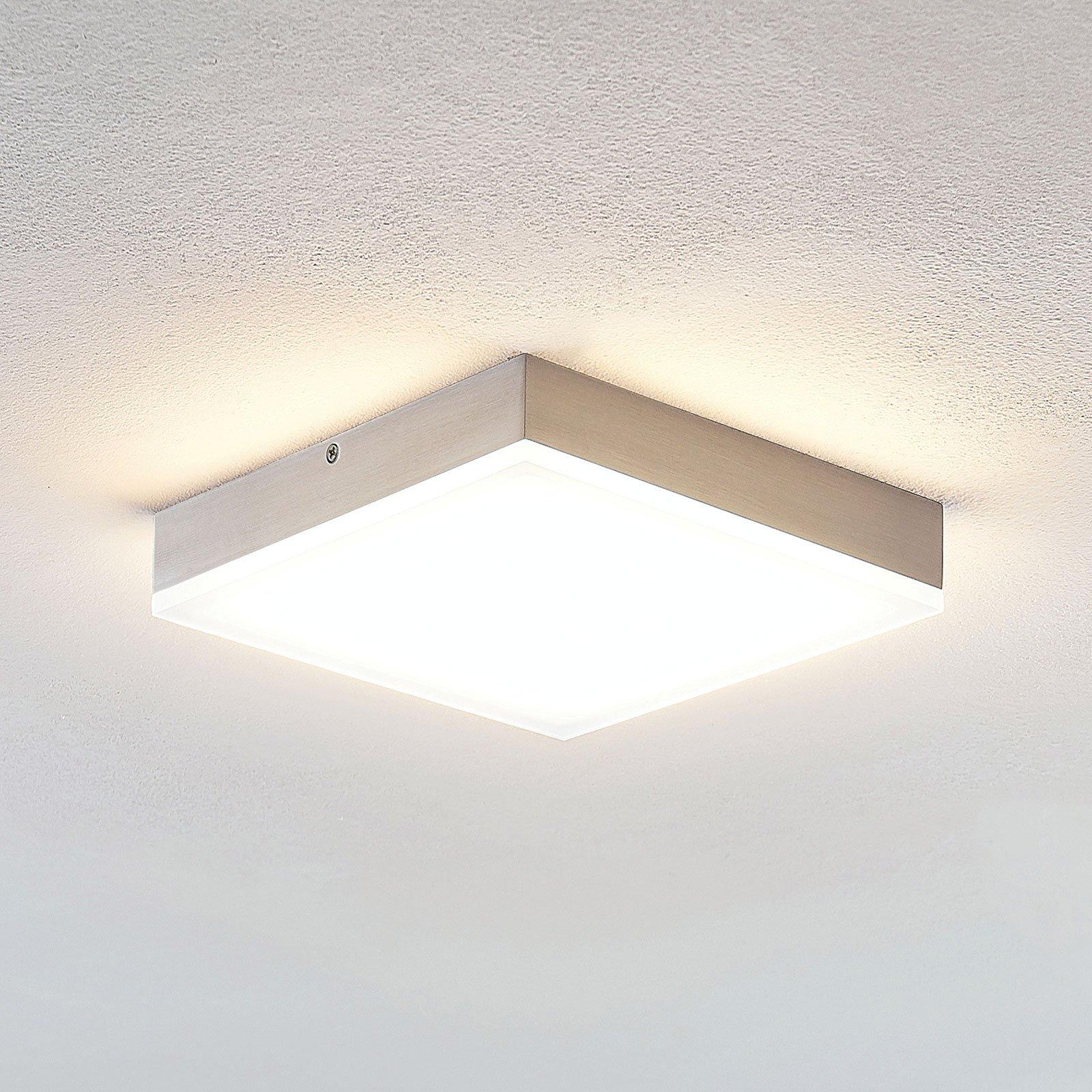 Lindby Tamito LED-taklampe, nikkel, 20 cm