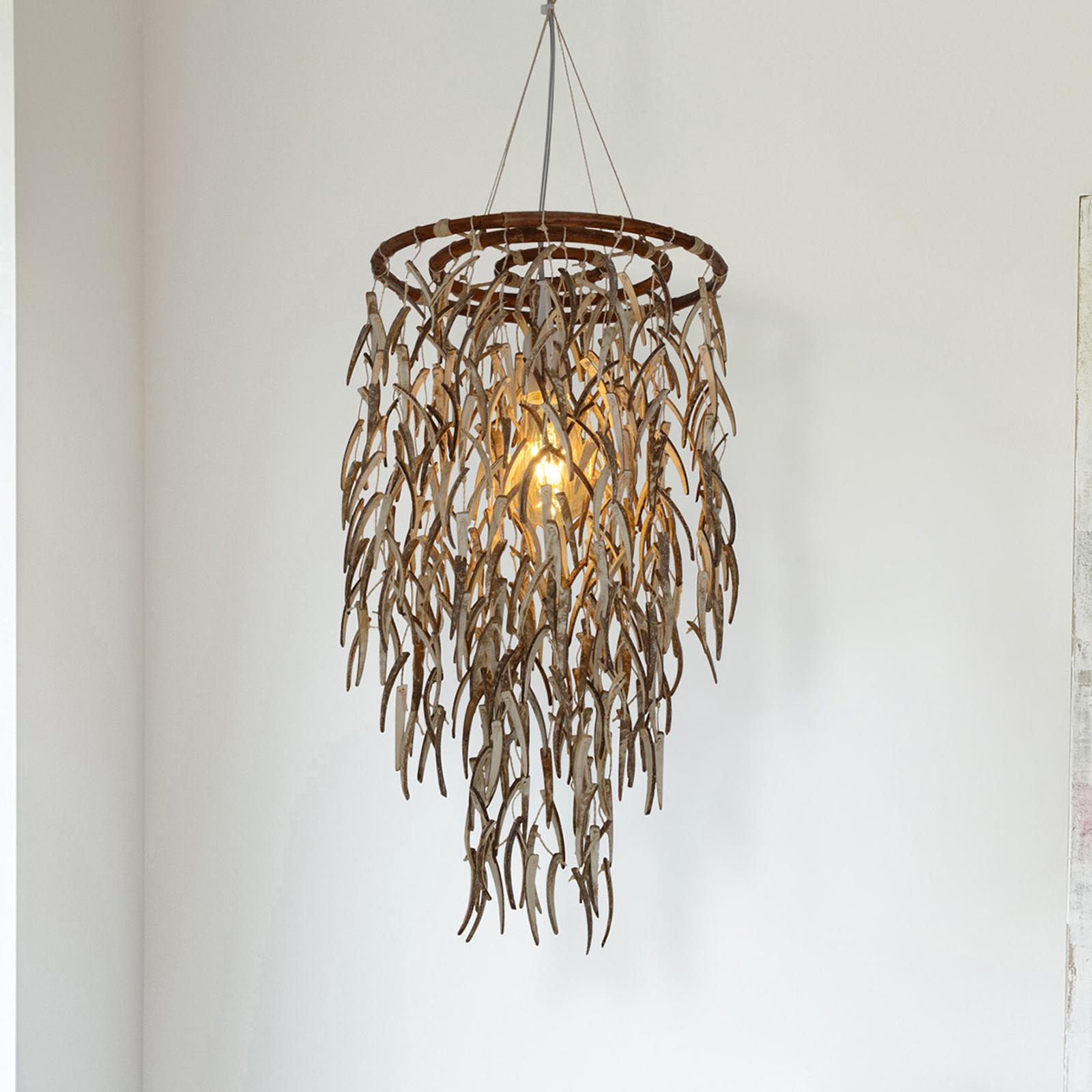 Riippuvalaisin Kokos, luonnonmateriaalia, 50 cm