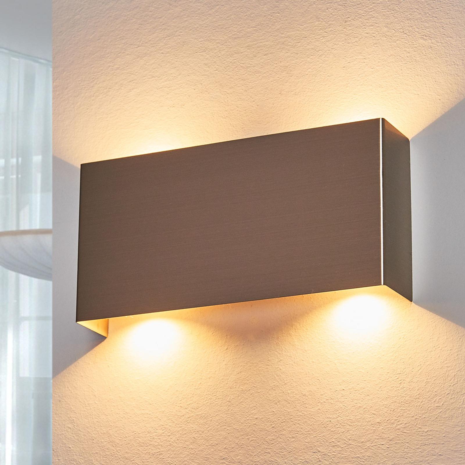 LED-seinävalaisin Manon, satin.nikkeli, 22 cm