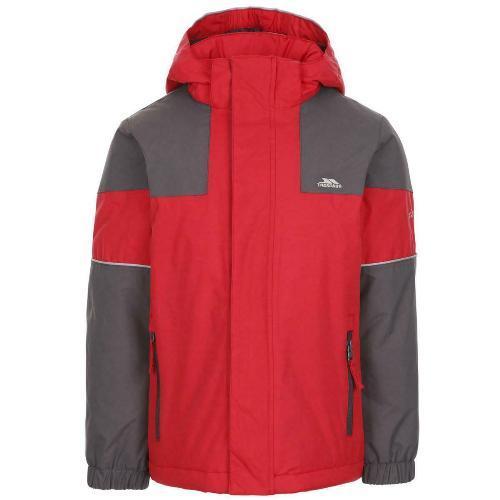 Trespass Men's Waterproof Padded Jacket Various Colours Unlock_Jkt - Red 5-6 Years