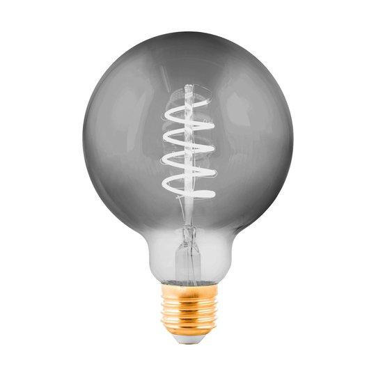 LED-globe-lamppu E27 4W musta, läpinäkyvä Ø 9,5 cm