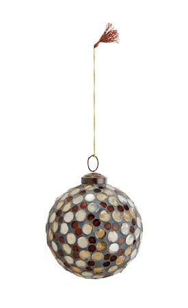 Hengende mosaikkule Ø 10 cm - Brun/gull