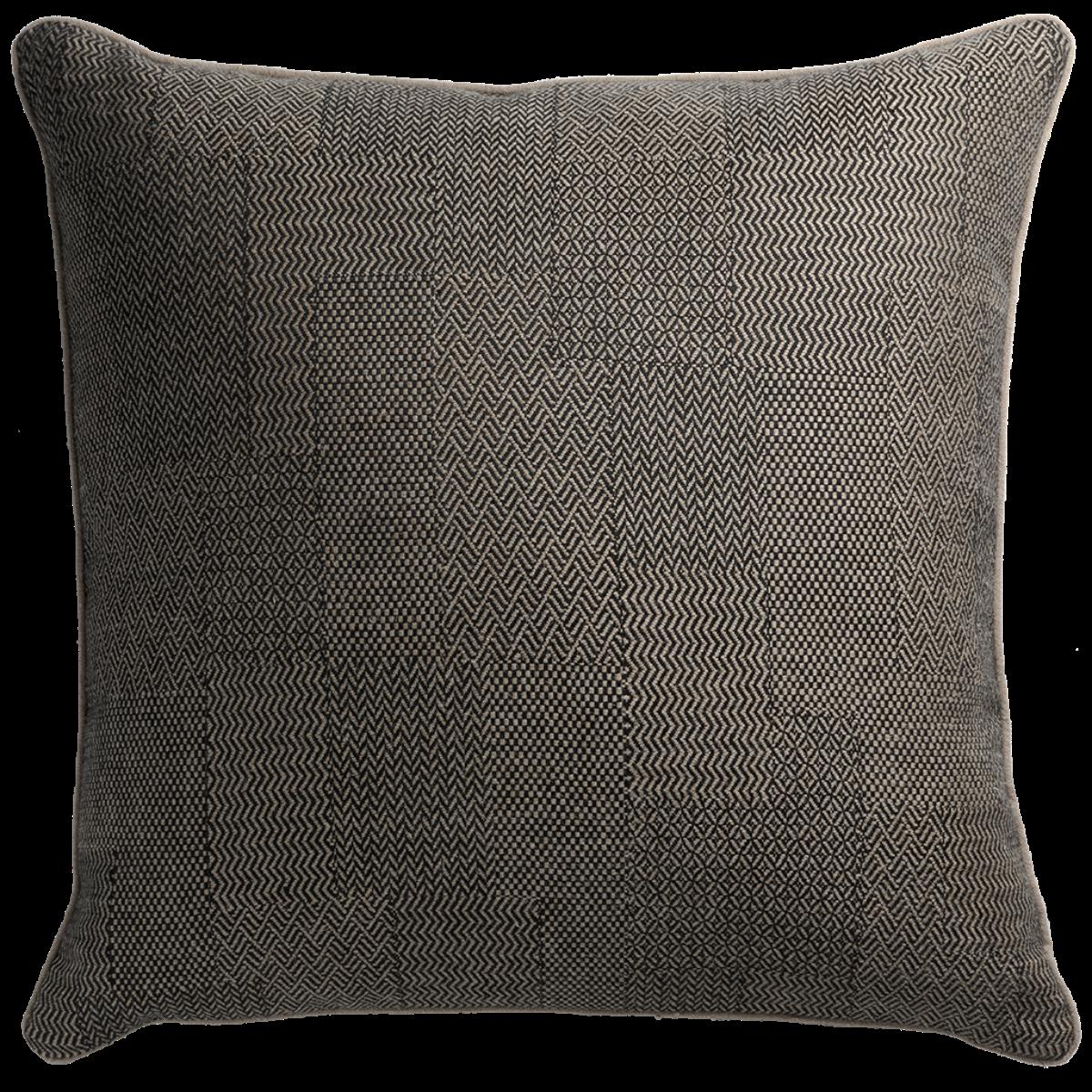 de Le Cuona | Hawker Cushion With Piping Carbon